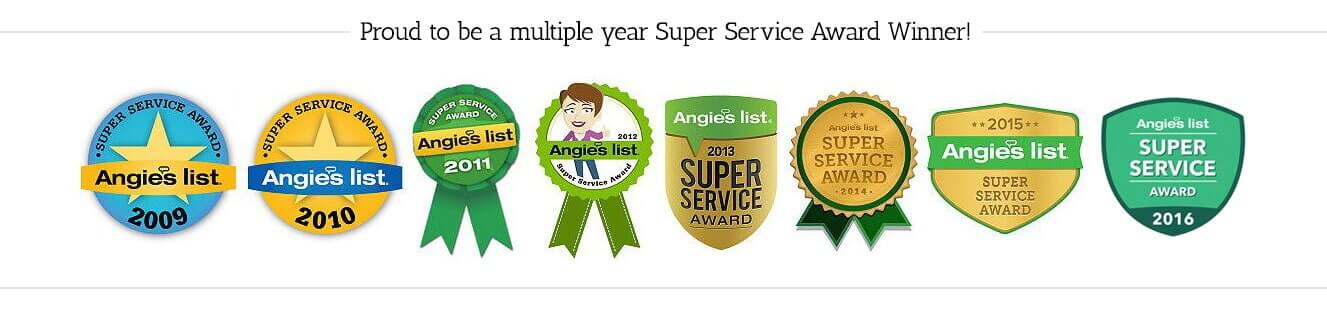 Super Service Award Winners